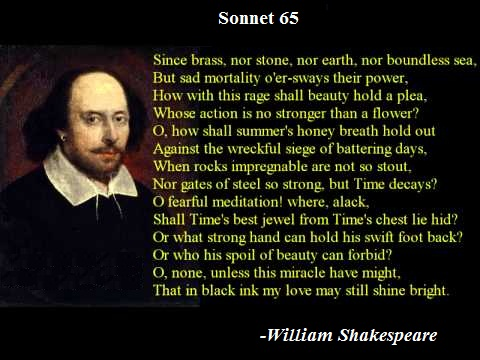 Critically Evaluate The Imagery And Structure Of Sonnet 65