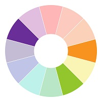 Colour Wheel Split Complementary